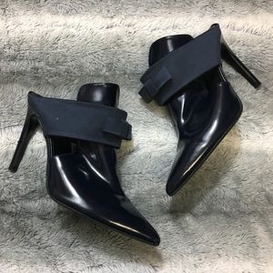 Zara Collection Navy Bow Booties Size 39